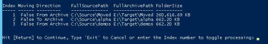Archiver Script List Screenshot