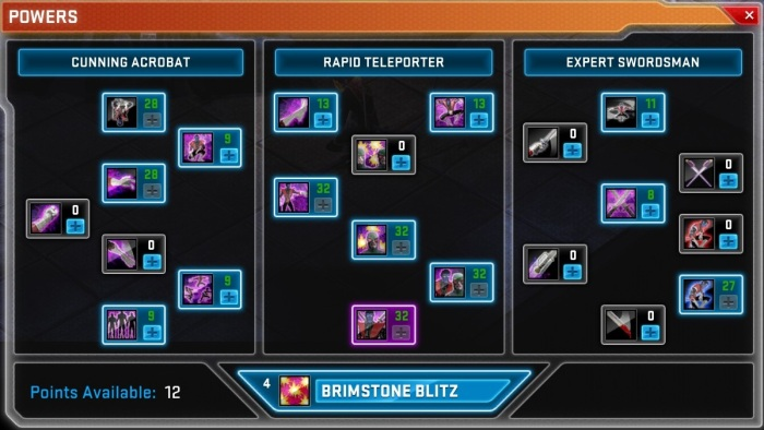 Nightcrawler Skill Tree;  with added 'Bamf!'