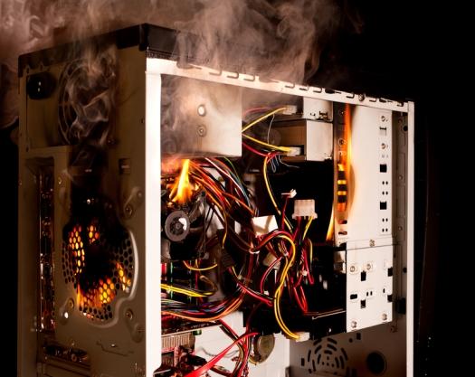 Destroyed-computer