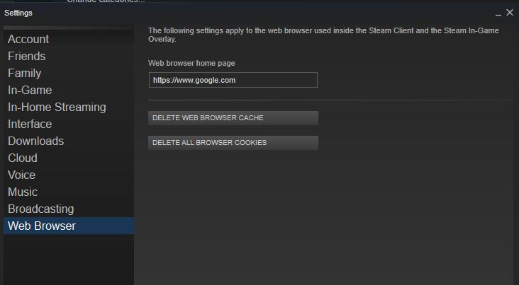 "Fixes for the ""Steam Stuck at a Blank Screen"" Issue – Herring's Fishbait"